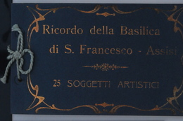 Assisi, Basilica S. Francesco 1910 - Livret Souvenir 25 Cartes TTB - Italie