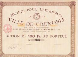 (Tapp 6)Société Pour L'Extension De La Ville De Grenoble - Aandelen