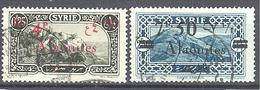 Alaouites: Yvert  N° 43 Et 45°; 2 Valeurs - Oblitérés