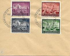 6º Centº De La Ville De Lublin FDC 1942  Yvert 103/6 - Occupation 1938-45