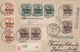 Deutsches Reich Landespost Belgien R Brief 1918 - Besetzungen 1914-18