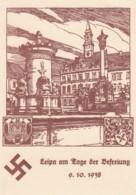 Deutsches Reich Propaganda Postkarte 1938 Leipa Usw - Gebraucht