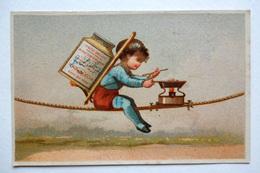 CHROMO LIEBIG.....S 42....TESTU ET MASSIN....IMAGES D'ENFANTS III....ENFANT PRÉPARANT UN REPAS EN ÉQUILIBRE....1873/1878 - Liebig
