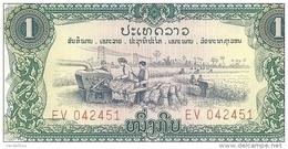 LAOS 1 KIP ND UNC P 19A - Laos