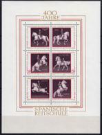 A0260 AUSTRIA 1972, SG MS 1645,  400th Anniv Spanish Riding School,  MNH - 1945-.... 2a Repubblica