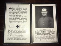 Sterbebild Wk1 Ww1 Bidprentje Avis Décès Deathcard Landsturm Batl. Passau Strassburg Strasbourg Cronenbourg Bl 4 Gr 66 - 1914-18