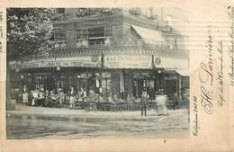 PARIS CAFE DE LA CROIX DE MALTE 55 BOULEVARD SAINT-MARTIN H. LARIVIERE PUBLICITE DEVANTURE - Arrondissement: 10