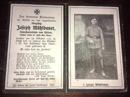Sterbebild Wk1 Ww1 Bidprentje Avis Décès Deathcard FAR10 MÜNSTER Zentralfriedhof Block 1 Aus Hütten - 1914-18