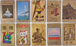 LOT 07 - 50 Télécartes DOREES Différentes JAPON - JAPAN GOLD Phonecards Telefonkarten - / TC Dorée - Télécartes