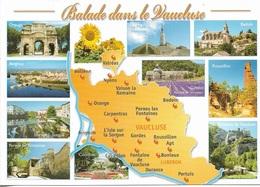 Cartes Géographiques - 84 - Le Vaucluse - 10 Vues + Carte Géo - Cpm - Vierge - - Maps