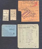 1936 - 1951 Lotto Di 3 BIGLIETTI Di TRENO E AUTOBUS DI LINEA - Treni