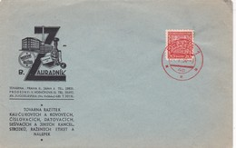 B.ZAHRADNIK MODERNI RAZITKA. ENVELOPE CIRCULEE CHECOSLOVAQUIA 1934 -BLEUP - Briefe U. Dokumente