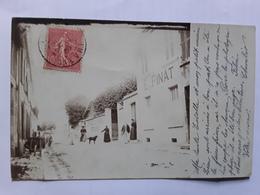 Cosne Sur Loire   Superbe Et Rare Carte Photo Maison E. FINAT Épicerie En Gros - Cosne Cours Sur Loire