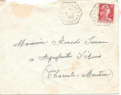 Recette Auxiliare Rurale RAR Brouchaud Dordogne - Marcophilie (Lettres)