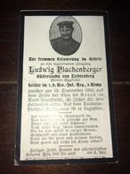 Sterbebild Wk1 Ww1 Bidprentje Avis Décès Deathcard RIR1 ARRAS St. Laurent Aus Lichtenberg 13. September 1915 - 1914-18