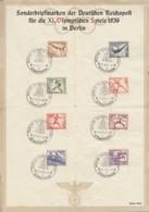 DR  609-616, Auf Sonderblatt Olympische Spiele 1936, Mit SoSt: Berlin Olympiastadion 14.8.1936 - Deutschland