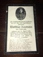 Sterbebild Wk1 Ww1 Bidprentje Avis Décès Deathcard Neuville St. Vaast St. Laurent Blangy Aus Laibstadt - 1914-18