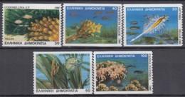 GRIECHENLAND 1680-1684 C, Postfrisch **, Kleinstlebewesen Im Mittelmeer 1988 - Grèce