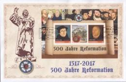 ÖSTERREICH  Personalisierter Block: Martin Luther 500 Jahre Reformation, Auf Brief Mit ESST: St, Pölten 24.1.2017 - Österreich