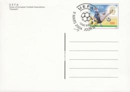SCHWEIZ  P 304, Gestempelt, 50 Jahre UEFA, 2004 - Stamped Stationery