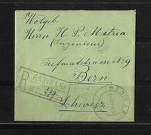 1923 RUMÄNIEN → R-Brief Rasinari Nach Bern /Schweiz - 1918-1948 Ferdinand I., Charles II & Michel