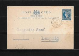 1893 BERMUDA → GA-Postkarte Hamilton Nach Leipzig - Bermudes
