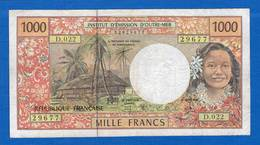 France  D'outre   Mer  1000 Fr - Territoires Français Du Pacifique (1992-...)