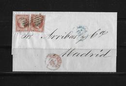 1856 SPANIEN → Brief Valencia Nach Madrid 1.1.1856 - Lettres & Documents