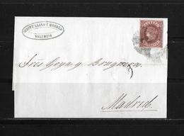 1863 SPANIEN → Brief Valencia Nach Madrid   ►RAR◄ - Lettres & Documents