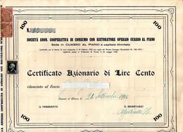 B 2462 - Scripofilia Coop Cuasso Al Piano, Varese - Azioni & Titoli