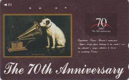 Télécarte Japon / 110-016 - ANIMAL CHIEN NIPPER VOIX DE SON  MAITRE - HIS MASTER'S VOICE DOG Japan Phonecard - 1112 - Honden