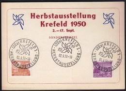 Germany  Krefeld 1950 / Herbst Ausstellung - Autumn Exhibition - Briefe U. Dokumente
