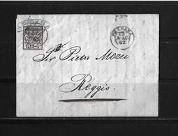 1852 ITALIEN → Kirchenstaat Brief Ferrara Nach Reggio    ►RAR◄ - Etats Pontificaux
