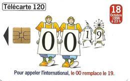 Telecarte 120 - Pour Appeler à L'international, Le 00 Remplace Le 19 - Telephones