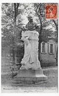 (RECTO / VERSO) MEUNG SUR LOIRE EN 1914 - MONUMENT JEHAN DE MEUNG - BEAU CACHET - CPA VOYAGEE - Autres Communes