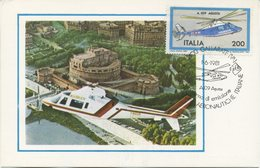 ITALIA - FDC MAXIMUM CARD 1981 -  AEREI ITALIANI - ELICOTTERO AGUSTA - ANNULLO SPECIALE - Maximumkarten (MC)