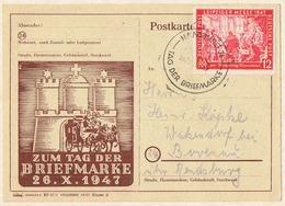 Alliierte Besetzung, Gemeinschaftsausgabe (Leipziger Messe), Postkarte Zum Tag Der Briefmarke 1947. - Gemeinschaftsausgaben