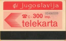 Yugoslavia - JUG-44, Autelca, Logo - Red (No Muflon Radece), 300U, CN: 8 Digits, 15.000ex, Used - Jugoslawien