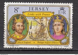 Jersey, Militaria, Catapulte, Catapult, Siège De Rouen, Jonn Of England, Philippe Auguste De France, Couronne, Or, Gold, - Militaria