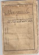 LIVRET MILITAIRE -65e REGt TERRITORIAL D'INFANTERIE -CLASSE MOBILISATION DE 1876-CHATEAUROUX - Documentos