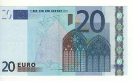 "20 EURO  ""Y""   GREECE     Firma  Trichet   N 006 F2   /  FDS - UNC - EURO"