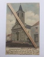 GENAPPE»L'EGLISE «Panorama Animée,couleur (1903)Édit DOHET ,Genappe. - Genappe