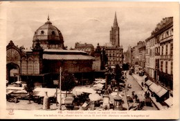 TOULOUSE Place & Halles Des Carmes Clocher De La Dalbade CPA Très Animée Ecrite En 1935 Mais TBE - Toulouse