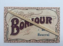 GENAPPE-BOUSVAL»UN BONJOUR DE BOUSVAL»Relief En Velours Violet,fantaisie (Édit V.P.F. SÉLECTA ). - Genappe