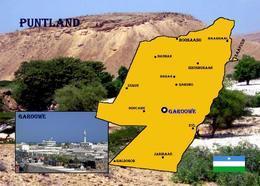 Somalia Puntland Map New Postcard - Somalie