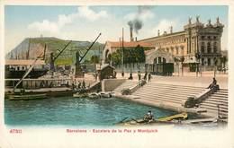 BARCELONA ESCALERA DE LA PAZ Y MONTJUICH ESPANA PHOTOCHROME 1900 - Barcelona