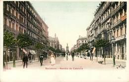 BARCELONA REMBLA DE CATALUNA ESPANA PHOTOCHROME 1900 - Barcelona