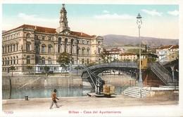 BILBAO CASA DEL AYUNTAMIENTO ESPANA PHOTOCHROME 1900 ESPAGNE - Vizcaya (Bilbao)