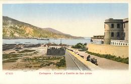 CARTAGENA CUARTEL Y CASTILLO DE SAN JULIAN ESPANA PHOTOCHROME 1900 - Murcia