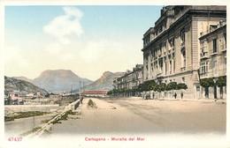 CARTAGENA MURALLA DEL MAR ESPANA PHOTOCHROME 1900 - Murcia